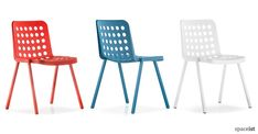 Booki red, blue and white school canteen chairs