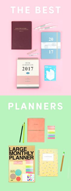 The Best Planners for 2017? We've got them all here! Get yourself ready for the new year with a brand new cute & functional planner. Whether you like monthly, weekly, daily, dateless, dated, or standing, you're sure to find one that makes your heart skip a beat. Find planners, schedulers, planner kits, and calendars of all shapes and sizes at MochiThings. Plan ahead and organize your life for your best year yet! Check out the cutest planners for yourself!