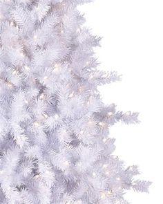 Moonlight White Tinsel Christmas Tree