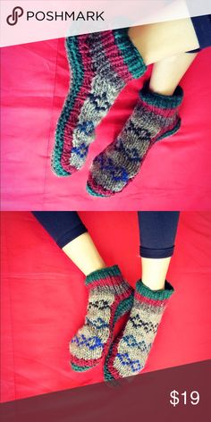Wool slippers handmade socks winter gift Handmade with sheep wool. Has fleece lined for extra warmth and comfort. Shoes Loafers & Slip-Ons