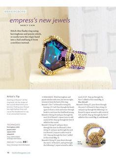 Empresses New Jewes Bead Work, Favorite Bead Stitches 2012, (p 16) Designer: Nancy Cain, Materials: