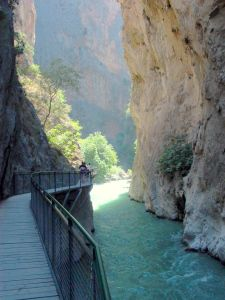 Saklikent Gorge - Turkey. Went here before it was majorly touristy. And again a few years ago. Crazy how much it's changed!