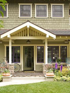 Updated siding trends and front porch additions on for Adding an addition to a split level home