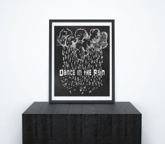 Printable Chalkboard Wall Art Dance in the Rain by ChangingVases, $3.00