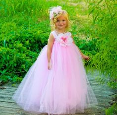 Amazon.com: Light Pink Tutu Dress for Toddlers Flower Girl Dress for Weddings and Everyday Girl's Dress up Tutu -- Small (1-2 Years): Clothing