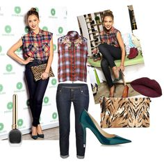 Jessica alba by shamy on Polyvore featuring moda, Preen, Dsquared2, Jimmy Choo, LORAC and Alba Botanica