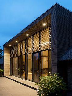 Exterior house design ideas offices 65 new ideas Best Exterior Paint, Exterior House Colors, Modern Exterior, Exterior Design, Home Interior Design, Modern Architecture Design, Beautiful Architecture, Cladding, Villa