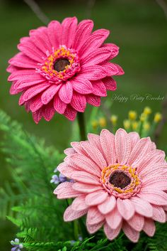 Crochet Gerbera Daisy Pattern by Happy Patty Crochet // PDF Pattern for a…