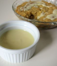 Easy apple crumble with vanilla custard...yum!  EVERYTHING from scratch!  Love it.
