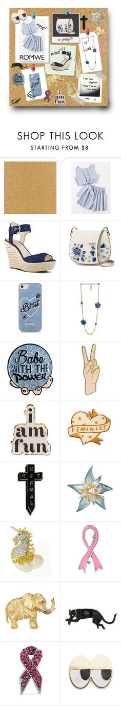 """""""cork board"""" by whittywoman77 on Polyvore featuring Post-It, Nine West, Polaroid, French Connection, Skinnydip, Lucky Brand, ban.do, NoHours, Alexis Bittar and Kenneth Jay Lane"""