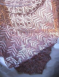 Simply magnificent! The Lutea Shawl, one of many patterns available from Lori Law for Oceanwind Knits on Patternfish.