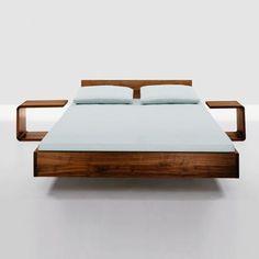 Simple Bed Hi 79 Walnut