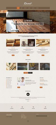 Template 49557 - Wooden  Responsive Website Template