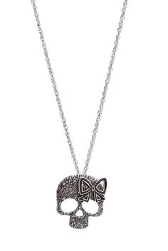 Skull Bow Necklace | Hot Topic