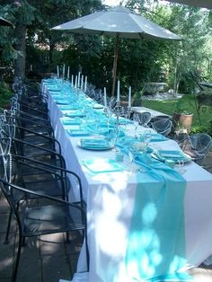 breakfast at tiffany& bridal shower images Tiffany Birthday Party, Tiffany Party, Tiffany Wedding, Wedding Blue, Bridal Shower Tables, Bridal Shower Rustic, Wedding Rustic, Bridal Showers, Breakfast At Tiffanys Party Ideas