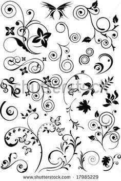 Clip art of element for design corner flower vector 1525r 143392 - Clip Art Of Element For Design Corner Flower Vector