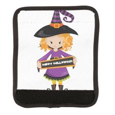 Happy Halloween Cutie Witch Luggage Handle Wrap