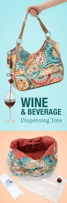 Bring happy hour to go with this fashionable wine tote!