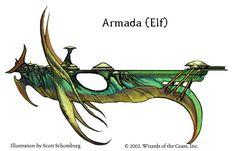 An Elven Armada from Spelljammer