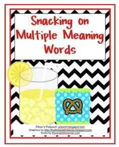 Pitner's Potpourri: Multiple Meaning Snacks - Freebie