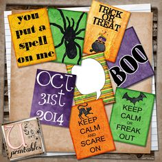 U printables by RebeccaB: FREE Printable - Project Life Halloween 2014