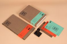 Great color and stamps—using the natural aesthetic of the cardboard and the bold colors of the paper.