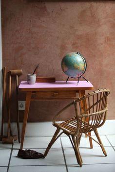 Bureau vintage rose