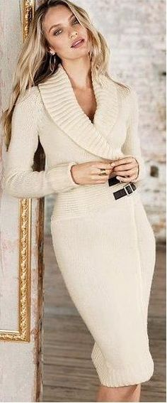 Knit Sweater Dress, looks comfy! Winter Skirt Outfit, Skirt Outfits, Dress Skirt, Fall Outfits, Dress Up, 20s Outfits, Bodycon Dress, Dress Vestidos, Prom Dresses