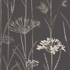 Harlequin Gardinum Wallpaper - 110556 ($87) ❤ liked on Polyvore featuring home, home decor, wallpaper, grey, sea grass wallpaper, country wallpaper, pattern wallpaper, farmhouse wallpaper and gray screen