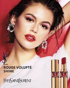Kaia Gerber Kaia And Presley Gerber, Kaia Gerber, Ysl Beauty, Campaign, Lipstick, Advertising, Search, Red, Lipsticks