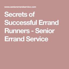 Secrets of Successful Errand Runners - Senior Errand Service Errand Business, Start Up Business, Starting A Business, Buisness, Ways To Earn Money, How To Make Money, Small Business Entrepreneurship, Senior Services, Business Inspiration