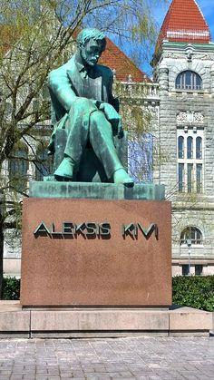 Aleksis Kiven muistoatsas - Wäinö Aaltonen, 1939 Article Writing, Good Old, Cover Photos, Finland, Statue, Fine Art, Painting, Painting Art, Paintings