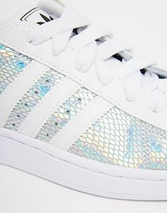 Enlarge Adidas Originals Superstar II Metallic White Trainers