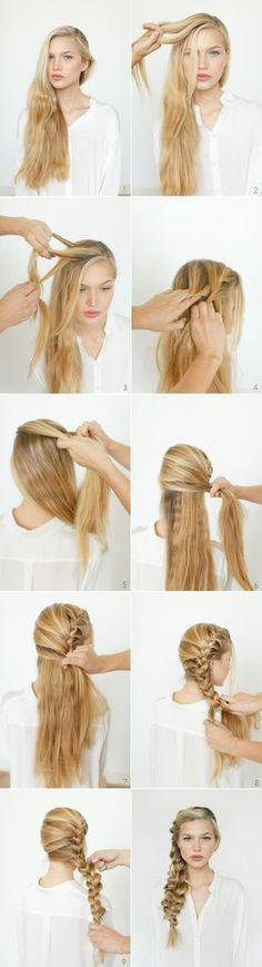 Romantic, Messy Braid Girl Hair Styles Quick Updos -girl hair styles