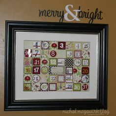Advent Calendar with Silhouette