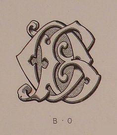 Monograma de todo el Alfabeto Demengeot, 1881  Coloreado       Viendo que este tema de Monogramas , es uno de los que ha desperta...