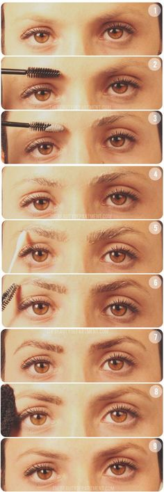 Finally! A tutorial for darkening your eyebrows at home via @The Beauty Department