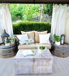 Crédit photo Pinterest-ArchitectureArtDesigns - Un tonneau peut devenir deux tables basses