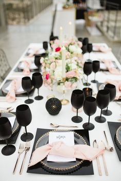 Sought-after Cabo wedding photographer Sara Richardson is known for her love of detail and ability to capture the essence of a special moment Pink Black Weddings, Black Wedding Themes, Dusty Pink Weddings, Pink Wedding Decorations, Pink Wedding Theme, Mod Wedding, Wedding Centerpieces, Wedding Colors, Wedding Ideas