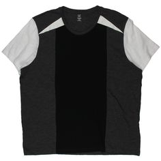 INC Mens Gray Colorblock Short Sleeves Slub T-Shirt S