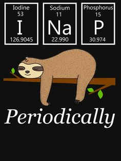 77aaf4dd8 Funny Sloth T Shirts Gifts-I Nap Periodically Gift for Science Lovers Women  Men by