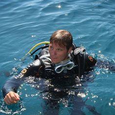 Ready to go! In acqua prima dell'immersione.