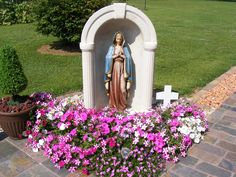 My wife and I created our backyard Grotto in summer 2014. Very peaceful setting to say the rosary.