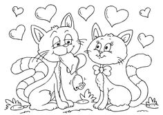 Valentine Coloring Page for Kids - Valentine Coloring Page for Kids , Valentines Day Coloring Pages Camping Coloring Pages, Love Coloring Pages, Cat Coloring Page, Online Coloring Pages, Coloring Pages For Kids, Coloring Books, Coloring Sheets, Printable Valentines Coloring Pages, Valentines Day Coloring Page