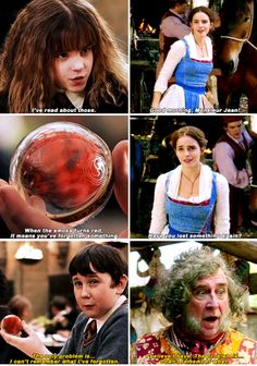 Harry Potter - Beauty and the Beast I noticed this when I watched the trailer and I so glad someone made this!