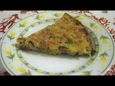Torta salata di Farina di Ceci e Verdure miste - YouTube