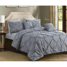 Charlton Home® Currin Comforter Set & Reviews | Wayfair Grey Comforter Sets, Down Comforter, Luxury Bedding Sets, Duvet Sets, Oversized King Comforter, Cali, Console, Ruffle Bedding, Girl Rooms
