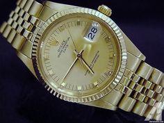 Rolex 14kt 14k Yellow Gold Date President Watch Q
