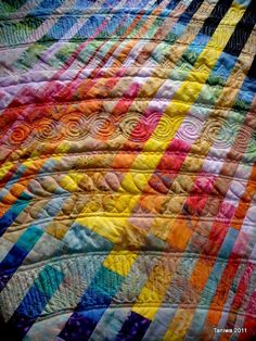 Quilting completely changes this quilt.  Totally amazing! & the quilting is fabulous