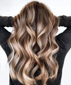 Long Metallic Bronde Balayage Hair